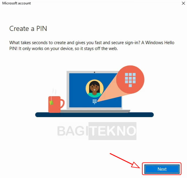 Membuat pin di Windows 10