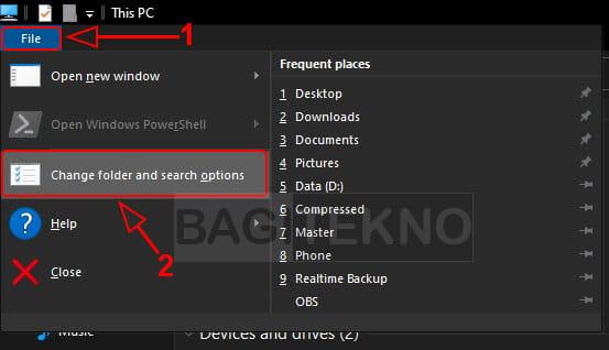 Mengatur file explorer Windows