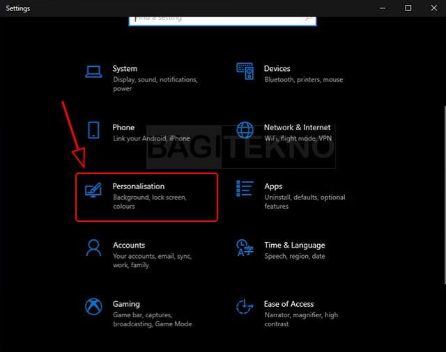 Pengaturan tampilan Windows 10