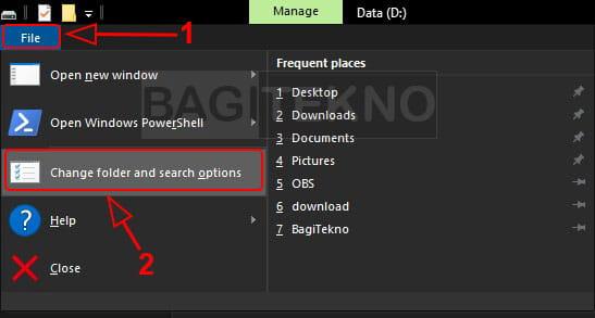 Membuka Folder Options Explorer