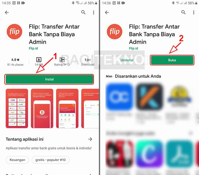 Cara menginstall aplikasi Flip id
