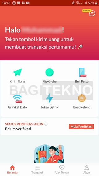 Transfer uang antar bank tanpa biaya admin menggunakan Flip