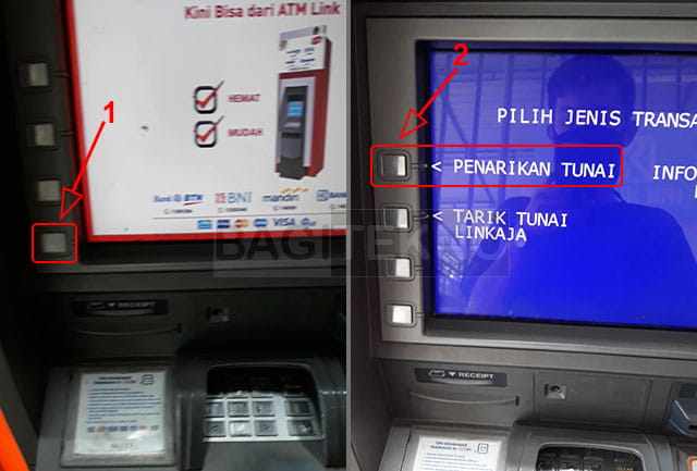 tarik tunai uang di ATM BRI tanpa kartu