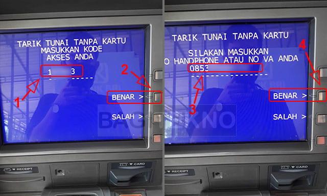 ambil uang di ATM Link BRI tanpa kartu