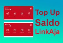 Cara top up LinkAja