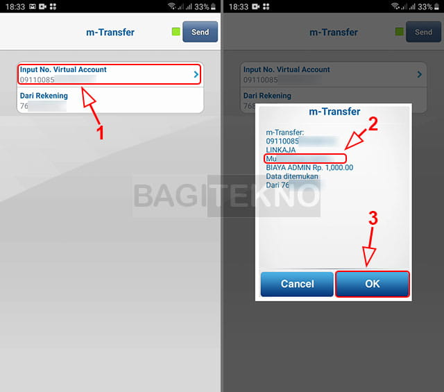 Isi ulang saldo BCA menggunakan BCA Mobile