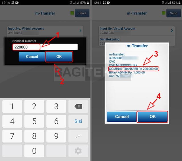 Cara isi saldo OVO menggunakan BCA Mobile
