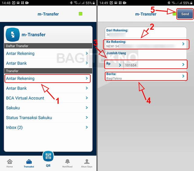 daftar rekening transfer BCA ke BCA