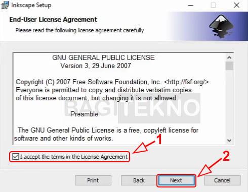 Persetujuan lisensi Inkscape