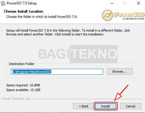 Cara install aplikasi Power ISO di Windows