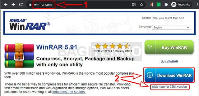 Cara download WinRAR gratis