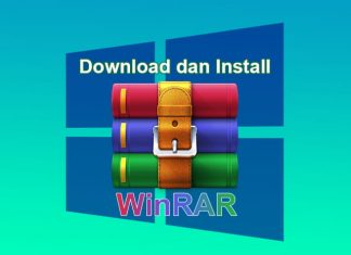 Cara download dan install software WinRAR di Windows