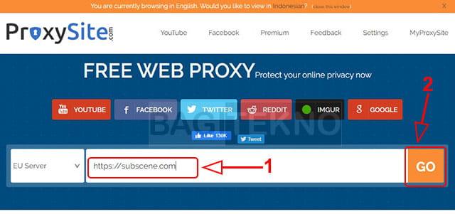 Membuka situs subscene yang not secure atau internet positif