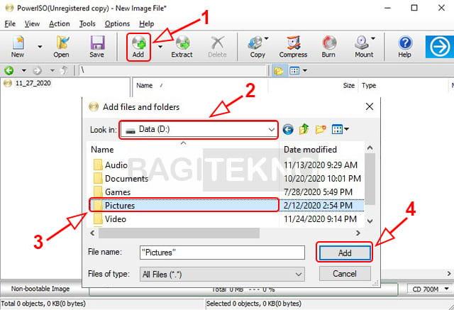 Cara membuat file ISO dari folder