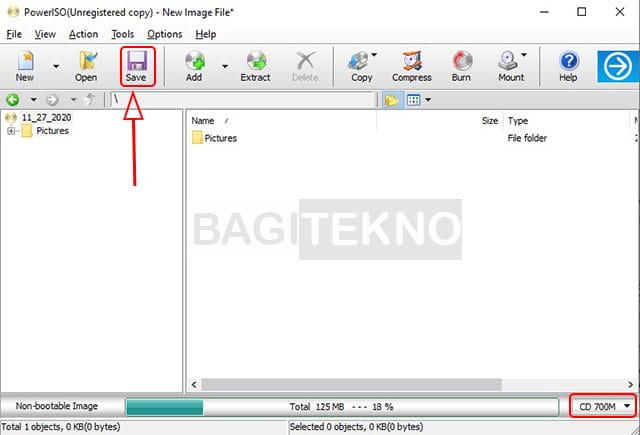 Cara mengubah folder menjadi file ISO