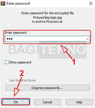 Cara membuka file RAR atau ZIP yang dikunci password