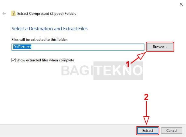 Cara mengekstrak file ZIP tanpa software
