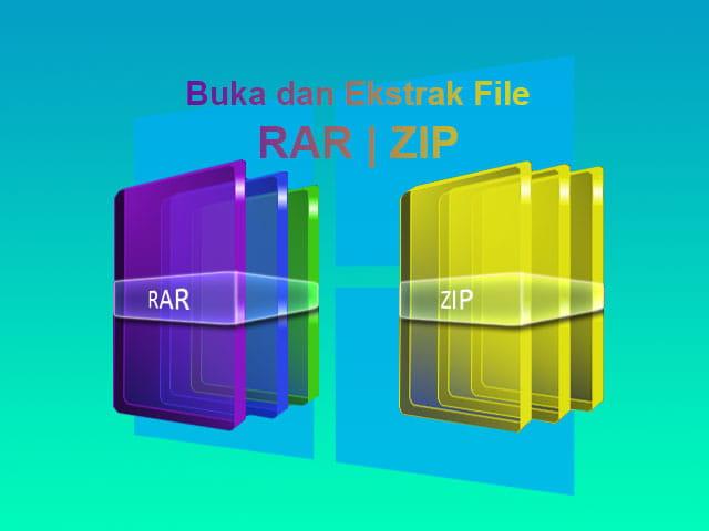 Cara membuka dan ekstrak file RAR dan ZIP di Laptop Windows
