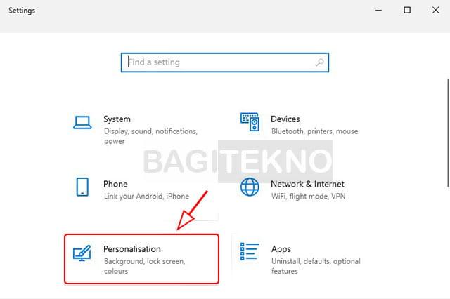 Mengubah pengaturan tampilan Windows 10