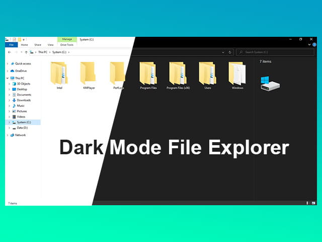 Cara mengaktifkan dark mode File Explorer di Windows 10