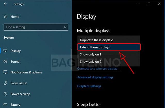 cara setup dual monitor pada Laptop