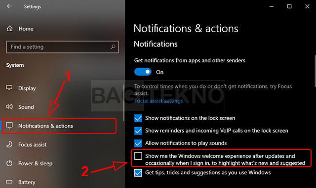 Cara mematikan welcome screen Windows 10