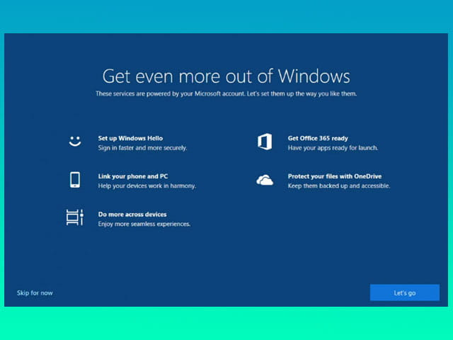 Cara mematikan welcome screen Windows 10
