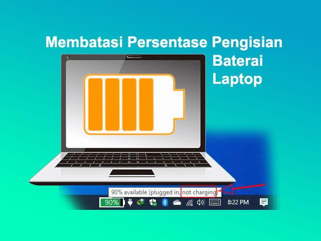 Cara membatasi persentase pengisian baterai Laptop Lenovo