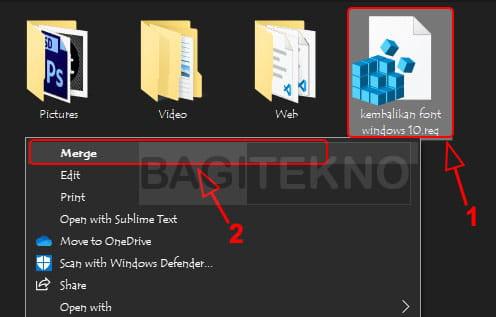 Kembalikan font Windows 10 yang sudah diganti