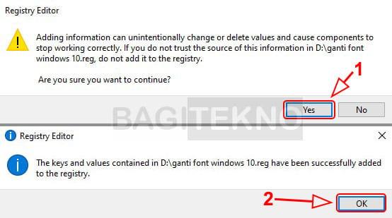 Font Windows 10 sudah berhasil diganti