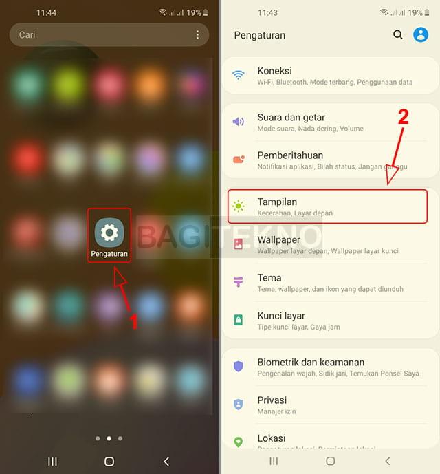 Mengatur tampilan Samsung Android