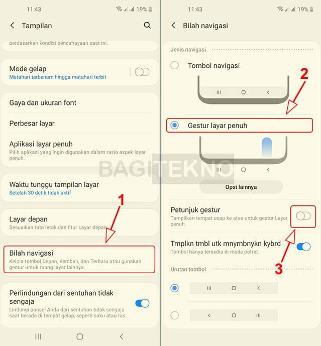 Cara menyembunyikan tombol navigasi HP Samsung Android
