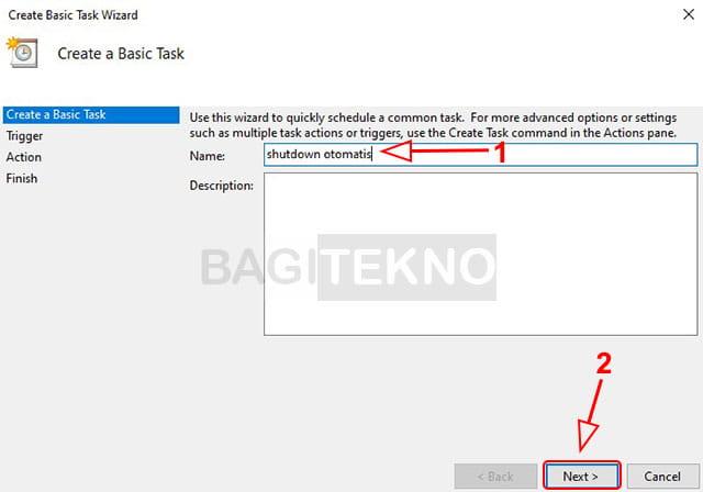 Membuat tugas shutdown otomatis di Windows