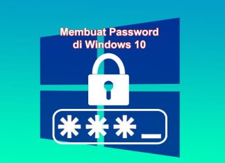 Cara membuat password di Laptop Windows 10