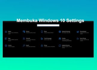Cara membuka setting di Laptop Windows 10