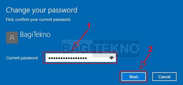 Mengubah password Windows 10