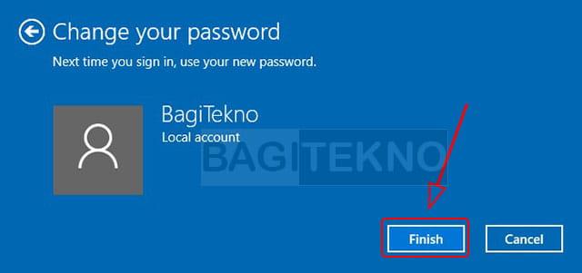 Menghapus password di Windows 10