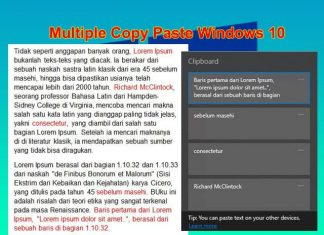 Cara multi copy paste dengan Clipboard di Laptop Windows 10