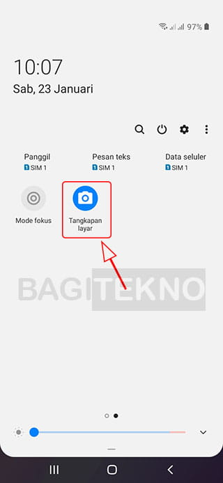 Cara screenshot di HP Samsung menggunakan aplikasi
