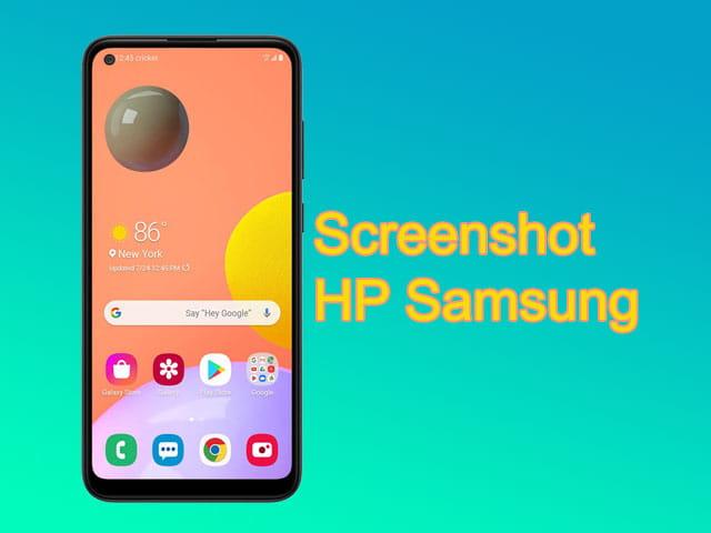 Cara screenshot di HP Samsung Galaxy A11, A20, A20s, A30, dll