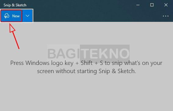 Cara mengambil tangkapan layar menggunakan Snip & Sketch