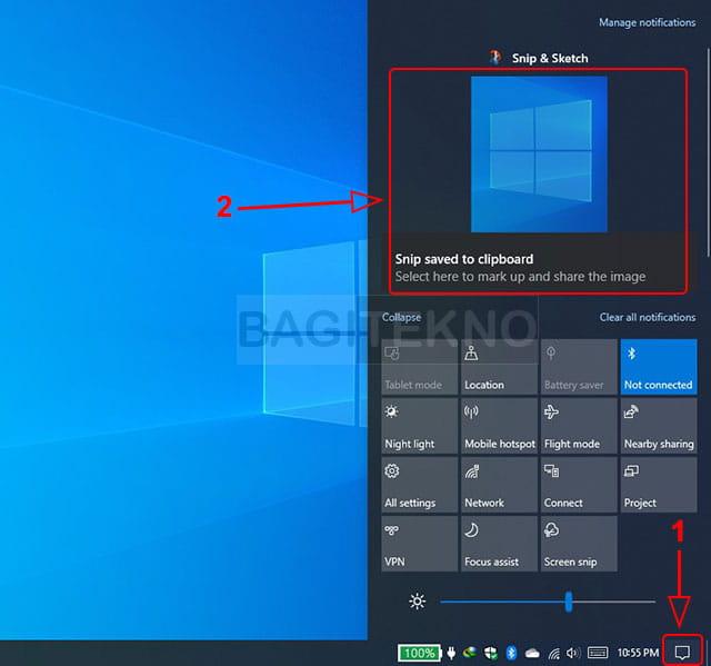 Cara menyimpan hasil screenshot Windows Shift S