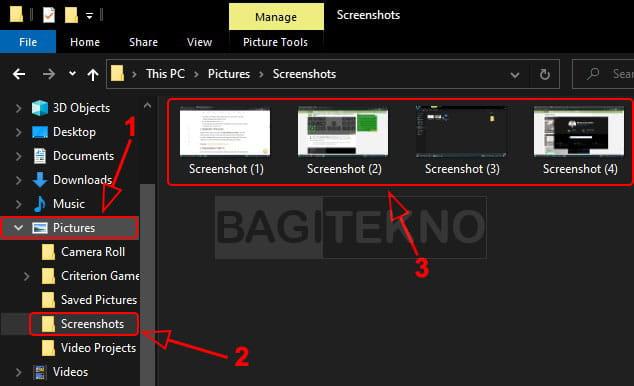 Dimana gambar hasil screenshot tersimpan?