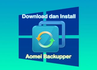 Cara download dan install Aomei Backupper di Laptop Windows 10, 8.1, 7