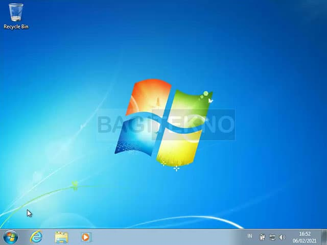 Windows 7 sudah selesai terinstall dan sudah bisa digunakan