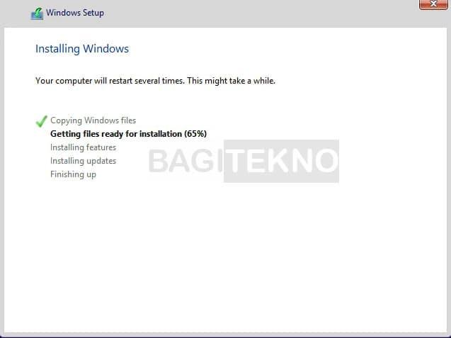 Windows 8 / 8.1 sedang terinstall