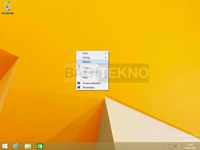 Windows 8 / 8.1 sudah selesai terinstall dan sudah bisa digunakan