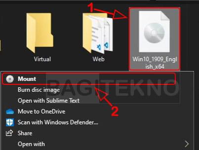 membuka file iso