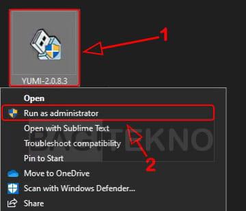 cara membuat bootable flashdisk windows 10 8 7 menggunakan yumi