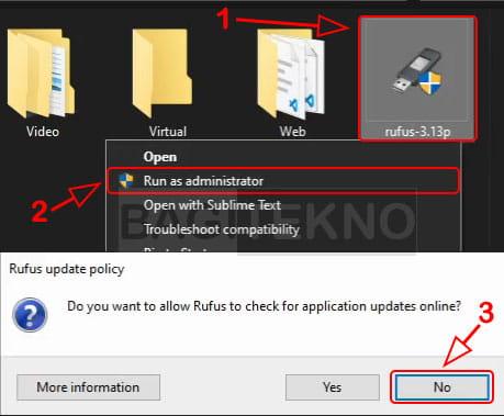 cara membuat bootable flashdisk windows 10 8 7 dengan rufus